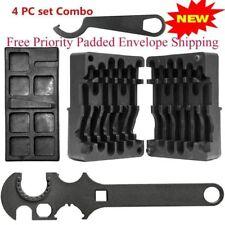 4PC Set M4/AR15 223 556 Upper Lower Vise Block Wrench Armorer's Tool Kit