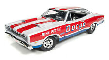 1:18 AUTO WORLD *JOHN PETRIE* 1969 Dodge Super Bee Super Stock Drag NIB!