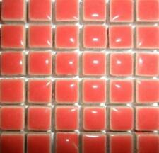 81 Mini Azulejos de mosaico de cerámica glaseada 10 Mm-salmón profundo