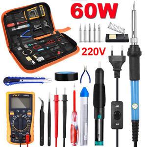 fer a souder kit 60W Station de Soudage Pompe Etain Soudure Electronique 220V FR