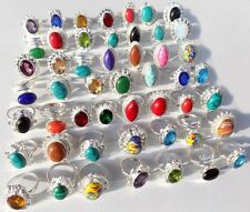 Silver Overlay Ring Gems new christmas Latest Design Jewelry 50Pcs 925 Sterling