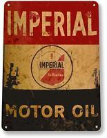 Imperial Motor Oil Gas Oil Garage Auto Shop Rustic Metal Decor Sign