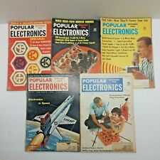 Popular Electronics Lot of 5 Vintage Rare Magazines 1958 - 1964 Antique
