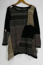 Scoop Neck Geometric Plus Size Jumpers & Cardigans for Women