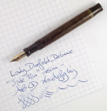 Parker Lady Duofold Deluxe Jade Pen c. 1926 restored guaranteed ready to write