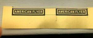 """PRE-WAR AMERICAN FLYER STICKER -""""AMERICAN FLYER  - IN 1 LINE - 3 sets of 2"""