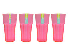 Plastic Tumblers Glasses Cups Set Reusable BBQ Picnic Party Home 4 Colours