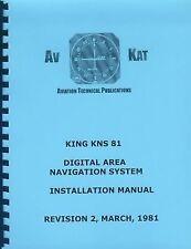 KING KNS 81 DIGITAL AREA NAVIGATION INSTALLATION MANUAL