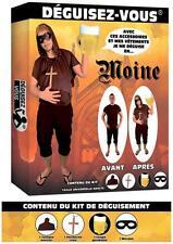 Déguisement Homme Kit MOINE Frère Tuck Robin des Bois Médiéval NEUF Pas cher