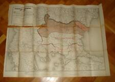 Russian GRU Intelligence Reference Map 1920s-Bulgaria (1878/1923) and WW1 Fronts