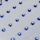 48pcs Iron On Rhinestone Jewels Hair Extension Straightener Diamante Gem BC8U