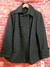 MISS SIXTY M60 2X Wool Blend Double breast Black Jacket/Coat Womens NEW!