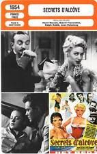 FICHE CINEMA : SECRETS D'ALCOVE - Moreau,Todd,Decoin,Delannoy 1954 The Bed