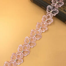 1 yards butterfly Beading Lace decoration Trim Wedding dress Jewelry Accessories