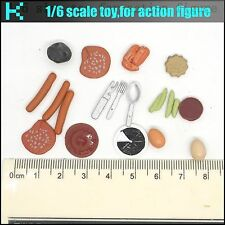 L08-40 1/6 scale Vegetables, eggs, sausages and other food model