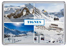 Tinges, Ski resort France Fridge Magnet