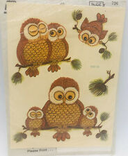 Vintage Owl Decals Meyercord  Arts & Crafts Water Applied Transfers Sealed