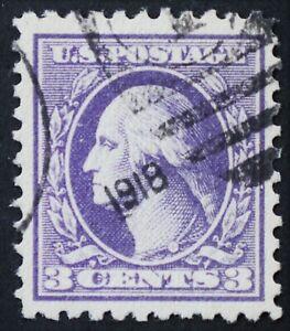 U.S. Used #501 3c Washington XF - Superb Jumbo. 1918 CDS Duplex Cancel. A Gem!