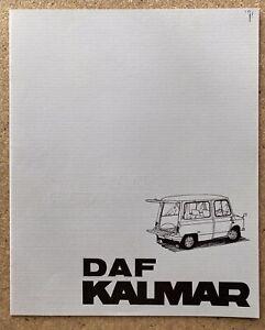 1971 DAF Kalmar original Dutch brochure