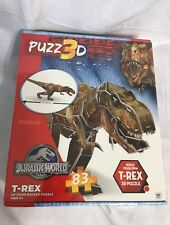 "Jurrasic World T-Rex 3D Dinosaur Puzzle 83 Foam Backed Pieces  22"" Ages 8* NEW"