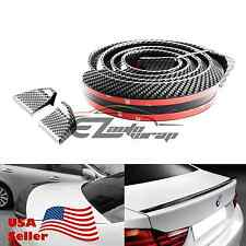 60 Universal Carbon Fiber Soft Styling Car Rear Roof Trunk Spoiler Wing Gt Lip Fits Saturn Aura
