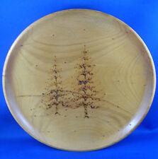 H & F. CHRISTIAN Norfolk Island Large Pine Engraved Wood Dish VG - in Australia