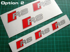 AUDI RS Premium 3 COLORI Pinza Freno Decalcomanie Adesivi le dimensioni corrette Set di 6