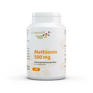 Methionine 500mg 120 Capsules Vita World German Pharmacy Production L-methionine