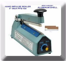 "4"" inch New Impulse Hand Sealer for Heat Seal Plastic Poly Bags Model PFS100"