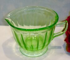 Green Depression Glass Colonial Rope by Federal Creamer