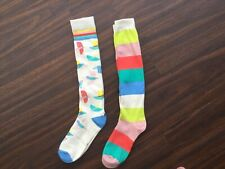 2 Pairs Ladies Knee High Long Socks Horse Riding Golf Sport one size