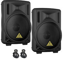 PAIR BEHRINGER B208D Light 200W 2-Way Active PA Systems with TWO FREE XLR CABLES