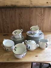 VINTAGE 50's EASTERLING CHINA RADIANCE ROSE 27 Pieces Creamer Sugar Tea Cups
