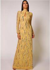 Dress 8 BNWOT Virgos Lounge ASOS Embellished Gold Wedding Bridesmaids Prom £250