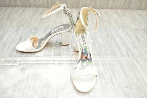 **Badgley Mischka Zabella Dress Sandals, Women's Size 5.5M, White Satin NEW