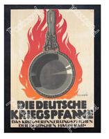 Historic WWI Recrutiment Poster The German war pan Postcard