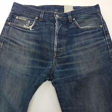 Calvin Klein  Mens Jeans W31 L31 Blue Regular Fit Straight High Rise