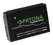 Batteria HQ Maggiorata Alta Qualità per Canon LP-E17 EOS 750D 760D 8000D 950 mA
