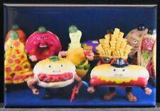 "Food Fighters 2"" x 3"" Fridge / Locker Magnet. Vintage Toys"
