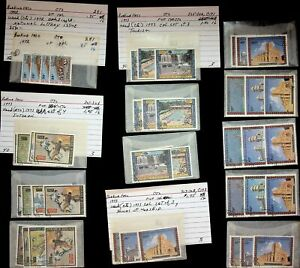 BURKINA FASO 1972-73 NATL LOTTERY/ TOURISM/ HOUSES OF WORSHIP USED STAMPS LOT