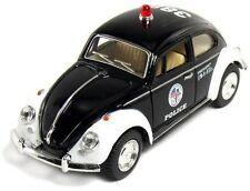 "5"" Kinsmart Diecast 1967 Volkswagen Classical Beetle Police Car 1:32 KT5057DP"
