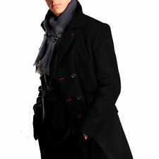 Sherlock Holmes Wool Trench Coat Cosplay Costume Business Suit Long Cape Outfit