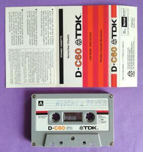 MC Musicassetta TDK D-C60 C 60 Vintage Compact Cassette Audio Tape USATA no Basf