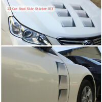 DIY 2Pcs Vent Intake Fender Grille Air  Door Decal For Car SUV Hood Side Sticker