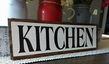 "KITCHEN wood sign farmhouse kitchen wooden rustic family small 12.5"" country"