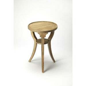 Butler Dalton Driftwood Round Accent Table, Gray - 1328247
