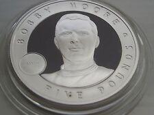 1 oz plata 2006 Jersey cinco libras Bobby Moore Gran británicos + certificado De Autenticidad