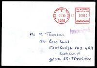Austria 1980 UNO printed matter machine cancel cover to Scotland ZZ2267