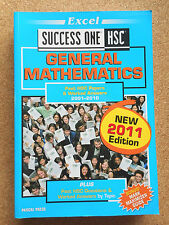 EXCEL Success One HSC GENERAL MATHEMATICS 2011 Ed Past MATHS Exam Papers VGC - 4
