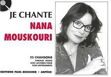 Partition pour voix - Nana Mouskouri - Je Chante Mouskouri